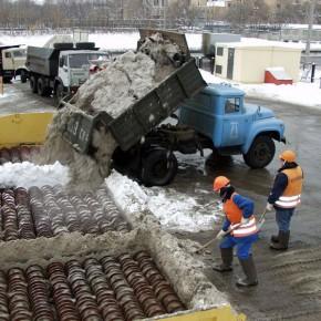 В Петербурге запущен снегоплавильный пункт