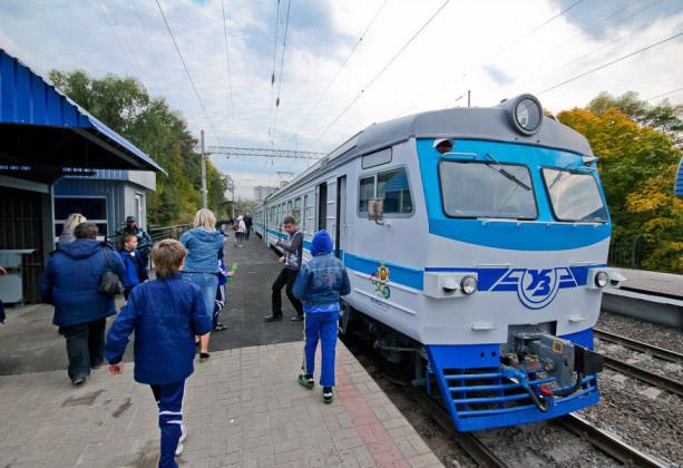 Городская электричка в Киеве, запущенная к Евро-2012 и пользующаяся успехом у жителей украинской столицы.