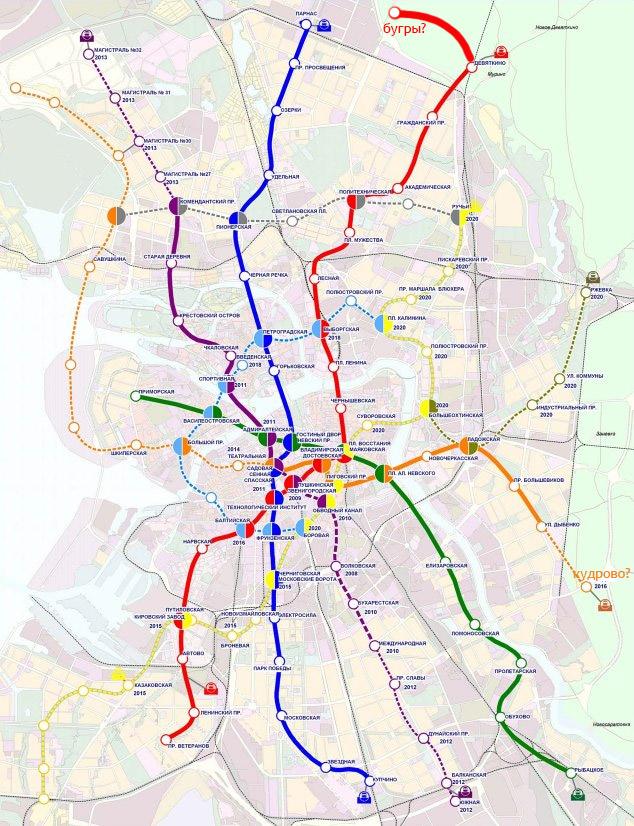 метро в самом Всеволожске,