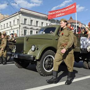 Пробка на Невском из-за репетиции Парада Победы повторится еще трижды