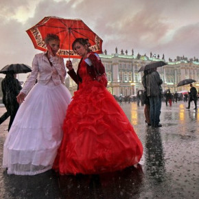 День города-2013 под дождем: хор у Исаакиевского собора и другие мероприятия