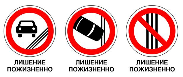 Знаки, предлагаемые Ильковским в местах нанесения тройных сплошных линий разметки (изображения предоставлены пресс-службой депутата)