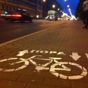 Петербургские активисты начали сами чертить велодорожки