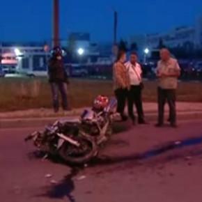 Ночью на улице Есенина мотоциклист сбил пешехода насмерть