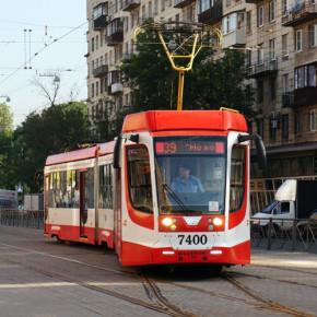 Новый трамвай от Народной до