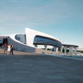 В Петербурге хотят построить футуристичный пешеходный мост на Крестовский остров