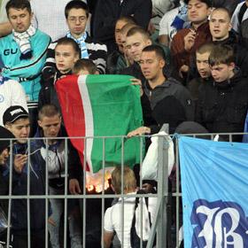 За подпаленный флаг Чечни фанат