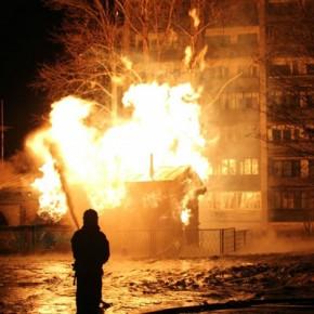На Гранитной улице произошел пожар на газораспределительной станции