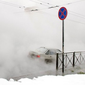 На Васильевском острове - за двое суток два прорыва теплотрасс