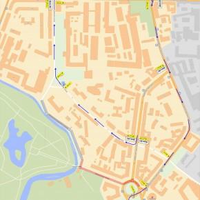 схема движения по площади Стачек