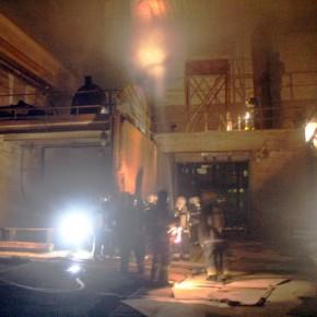 В Петербурге на Механическом заводе тушили серьезный пожар