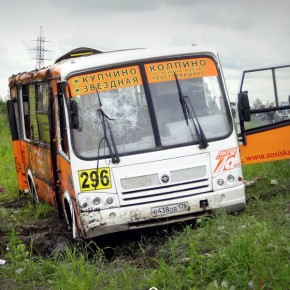 Авария на Московском шоссе: маршрутка