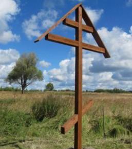 Очередной поклонный крест спилен в Пушкине