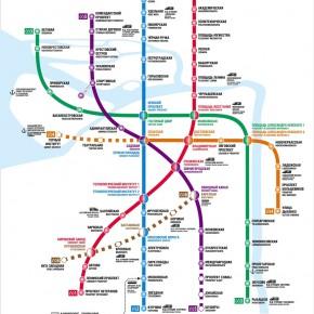 Схема метро Санкт-Петербурга актуальная на 2019 год