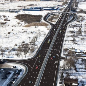 Проект развязки пересечения Московского и Колпинского шоссе (фото)