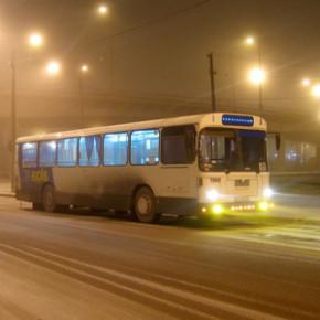 Ночные автобусы на новогодних каникулах будут ходить каждый день