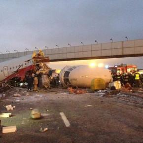 На Youtube появилось видео очевидца крушения самолета ТУ-204 на Киевском шоссе