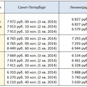 Прожиточный минимум в Санкт-Петербурге и Ленинградской области на 2014/2015 год