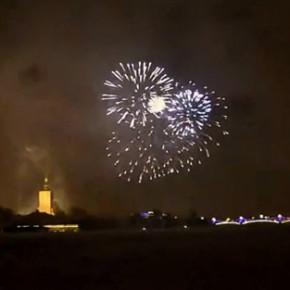 Мероприятия в новогоднюю ночь в центре Петербурга прошли спокойно (видео)