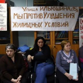 Один из участников голодовки выселенцев с Ильюшина 15 попал в больницу