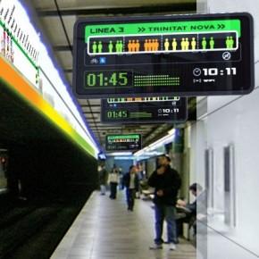 В петербургском метро табло покажут время до прибытия поезда