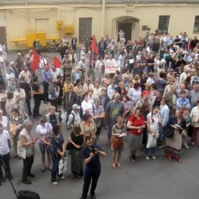 Митинг РАН в Петербурге проходит без Алферова