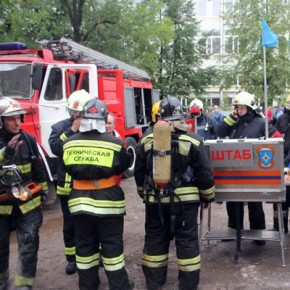 Пожар на Трефолева: в здании завода