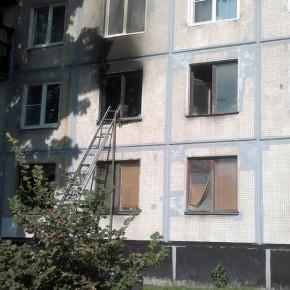 Из-за пожара в девятиэтажке на Мечникова эвакуировали 16 человек