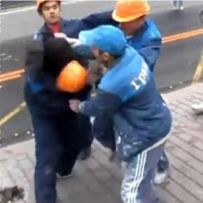 Массовую драку мигрантов в центре Петербурга сняли на видео