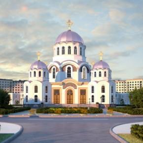 В Славянке заложили храм в честь иконы Божей Матери
