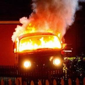 Накануне 2 декабря в Петербурге сгорели 2 автомобиля