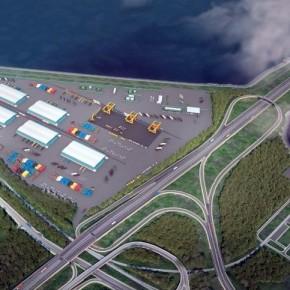 Рядом со строящимся портом Бронка открылась новая развязка КАД