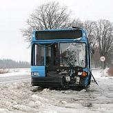 Под Красным Селом автобус врезался в дерево, пострадали 5 человек