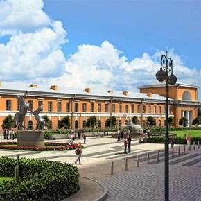 На Конюшенной площади началась реконструкция, схема движения изменилась почти на 2 года