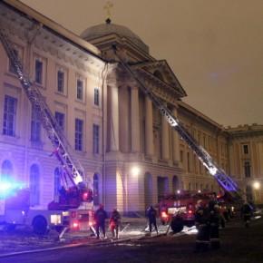 При пожаре в Академии художеств сильно пострадали 4 мастерские