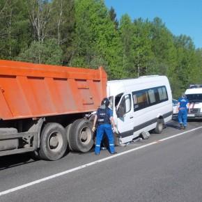В ДТП на Московском шоссе с микроавтобусом пострадали 14 человек