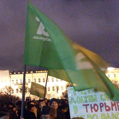 В Петербурге на Марсовом поле прошел митинг